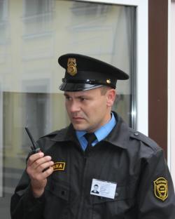 Сотрудник охраны компании АИВ